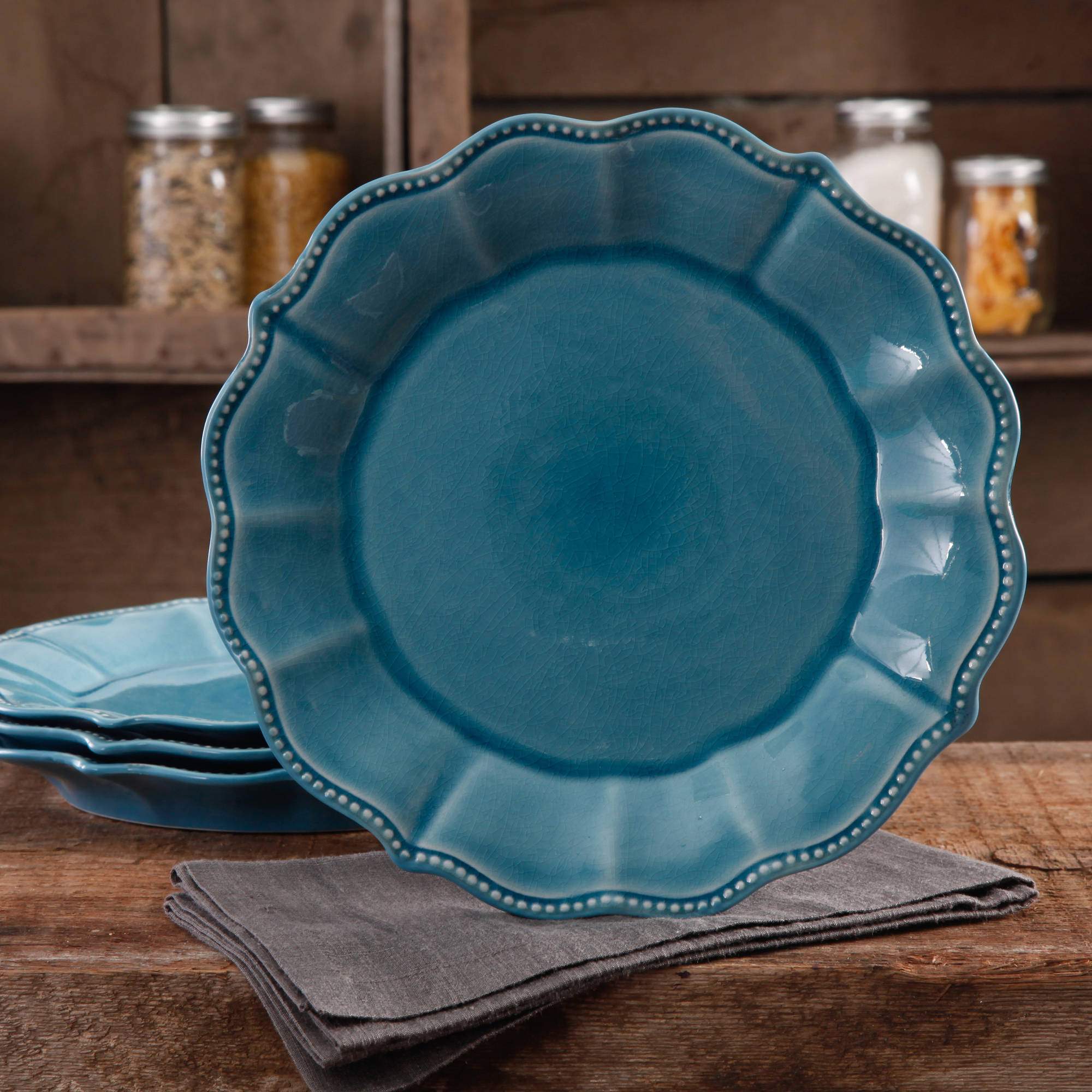 The Pioneer Woman Paige Crackle Glaze 4-Pack Dinner Plates