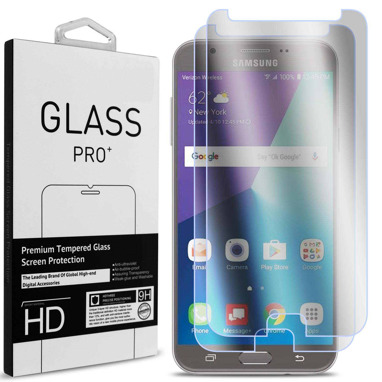 2 Pack of CoverON Samsung Galaxy J7 Perx / J7 Sky Pro / J7 2017 / J7 V / J7V Tempered Glass Screen Protectors - Premium Grade 9H Tough - HD Clear