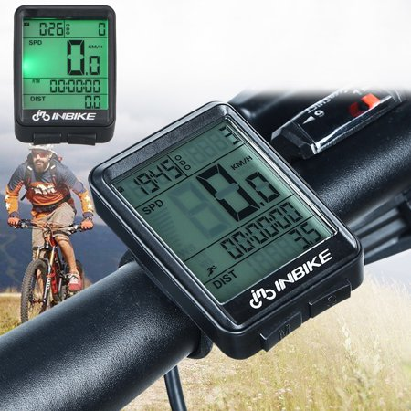 Cycle Computer, Digital Wireless Bike Odometer Speedometer for Bicycle, Waterproof LCD Backlight for Biking Cycling Accessories