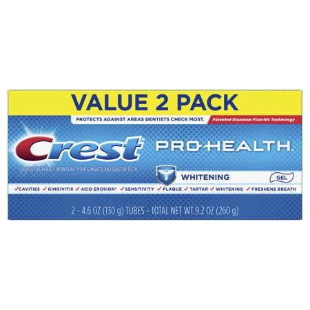 Crest Pro-Health Whitening Gel Toothpaste, 4.6 oz, Pack of 2