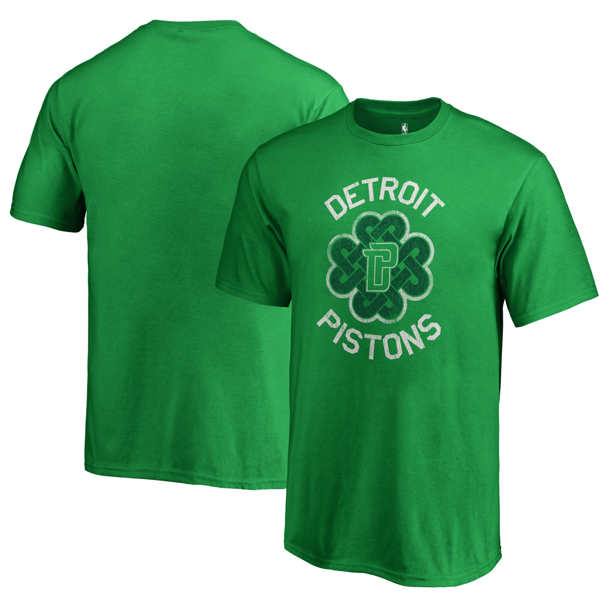 Detroit Pistons Fanatics Branded Youth St. Patrick's Day Luck Tradition T-Shirt - Kelly Green