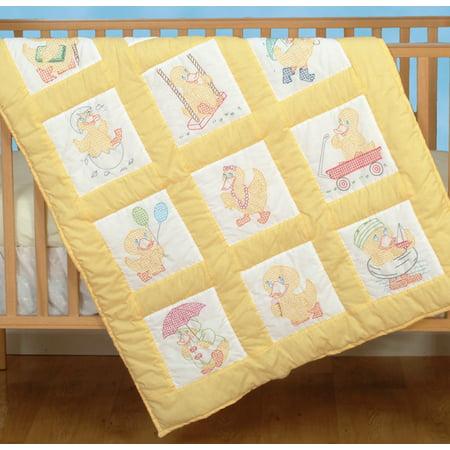 "Jack Dempsey Baby Ducks Nursery Quilt Blocks, 12Pk, 9"" x 9"""