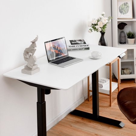 Gymax Electric Single Motor Sit To Stand Desk Table Top Laminate Top Office Tabletop - image 4 de 10