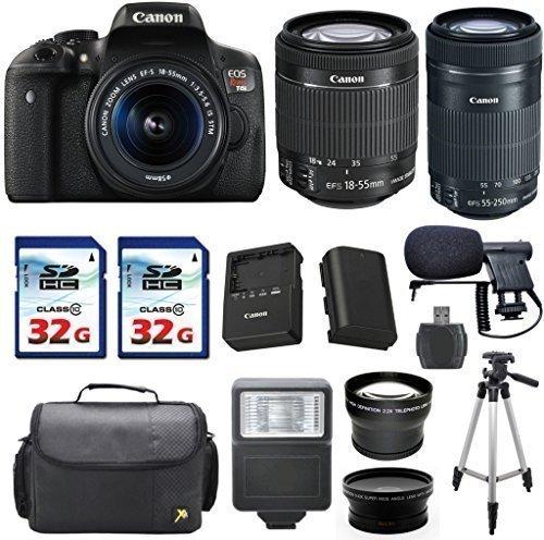 Canon EOS Rebel T6i 24.2 MP Digital SLR Camera Bundle + Canon EF-S 18