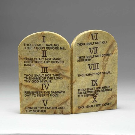 - Ten Commandments Resin Stone 11 x 9 Wall or Tabletop Plaque