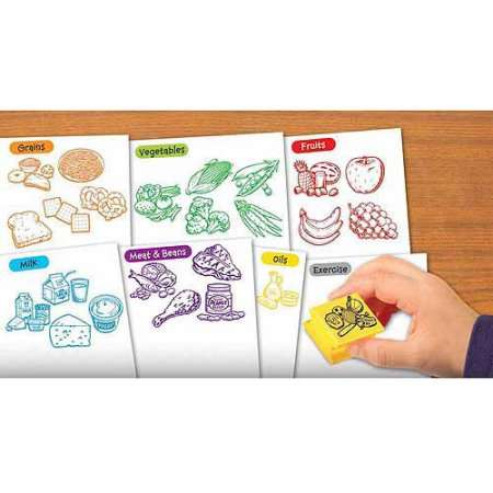 Image of Educational Insights Healthy Foods Stamp Set