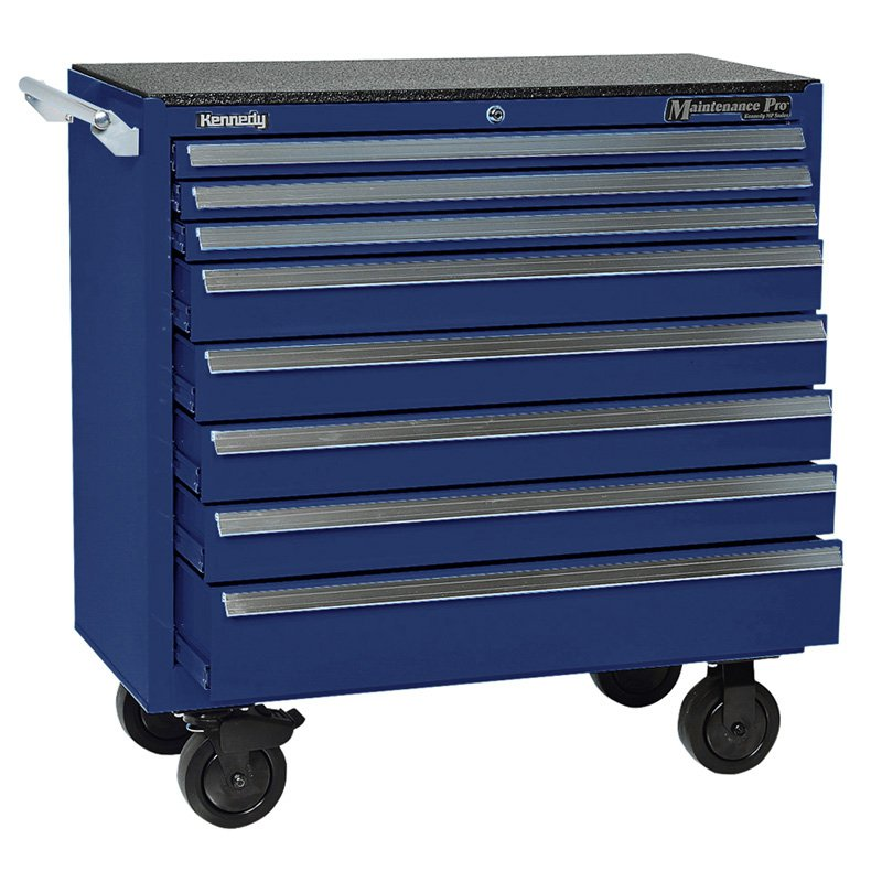 Kennedy 8 Drawer Maintenance Pro Cabinet - Blue