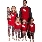 Reindeer Red Christmas Family Matching Pajamas Set Warm Adult Kids Pajamas Cotton Sleepwear Xmas Family Matching Clothes
