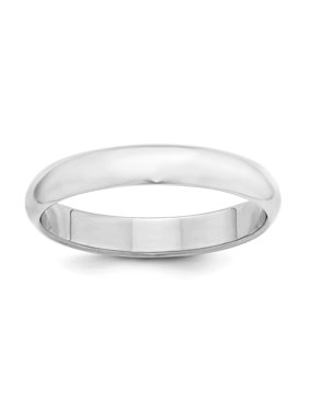 Sterling Silver 4mm Half Round Size 13.5 Band Ring