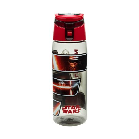 Star Wars 25 Ounce The Force Awakens Kylo Ren Wide Mouth Water Bottle with Loop Novelty - Star Wars Water Bottle Labels