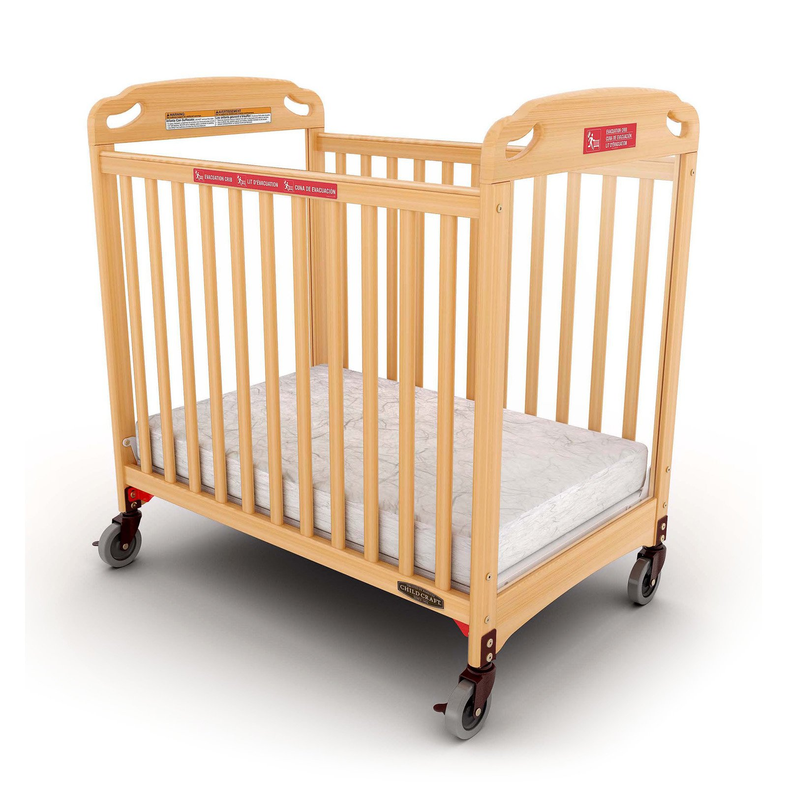 Child Craft Safe Haven Professional Series Evacuation Compact Crib