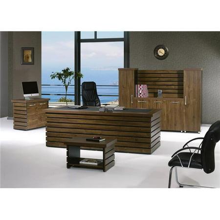 Home Designer Goods Elise 87rbb S 4 Piece Modern Desk Office Suite Furniture Set 44 Rustic Brown Black 87 In