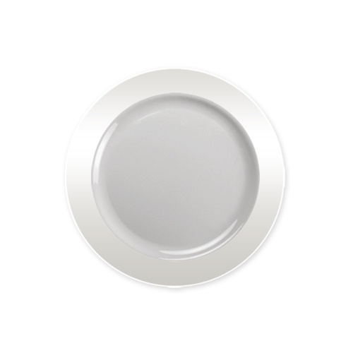 Lillian Dinnerware Magnificense Plastic Plate 6.25  Clear 40 Ct  sc 1 st  Walmart : clear plastic plates and cups - Pezcame.Com
