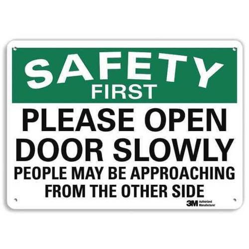 LYLE U7-1225-RA_10X7 Safety Sign,Reflective Alum,7inHx10inW G1813887