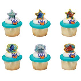 24 Finding Dory Adventure Is Brewing Cupcake Cake Rings Party Favors