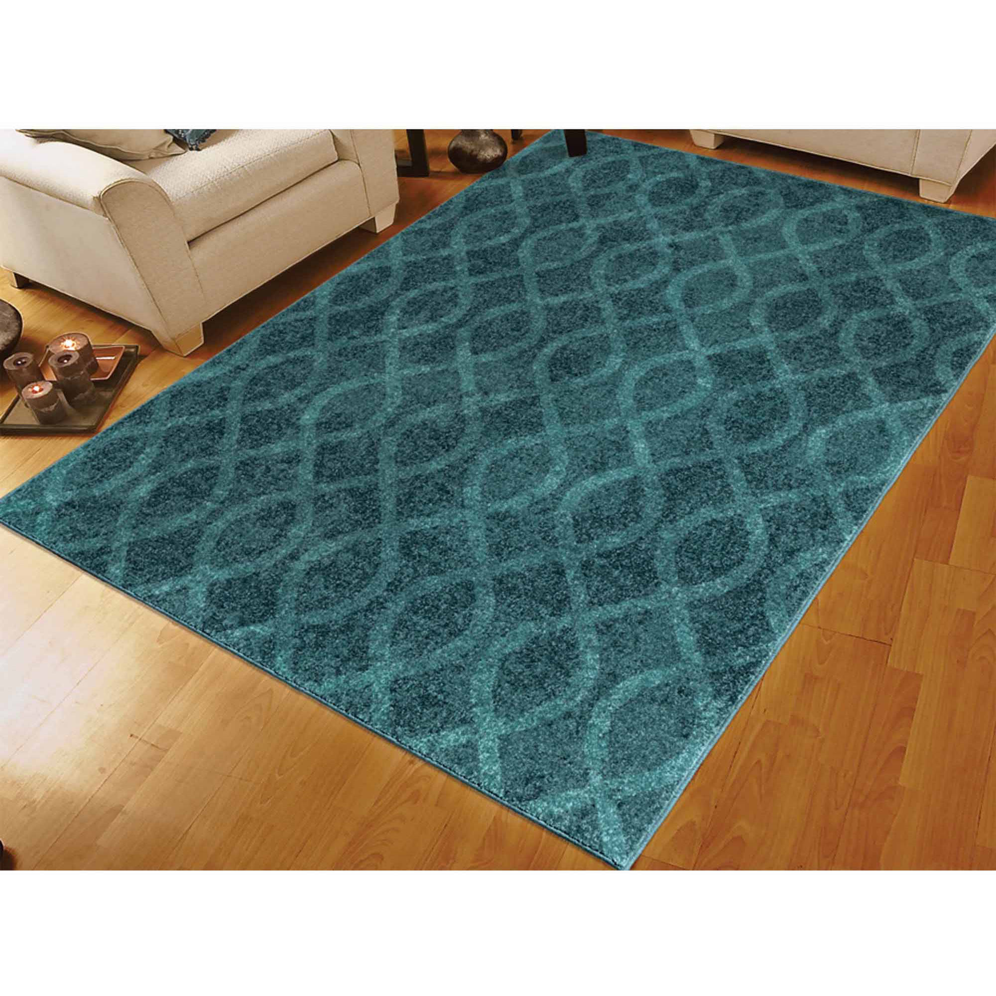 Orian Rugs Reckless Medallion Aqua Area Rug Walmart Com