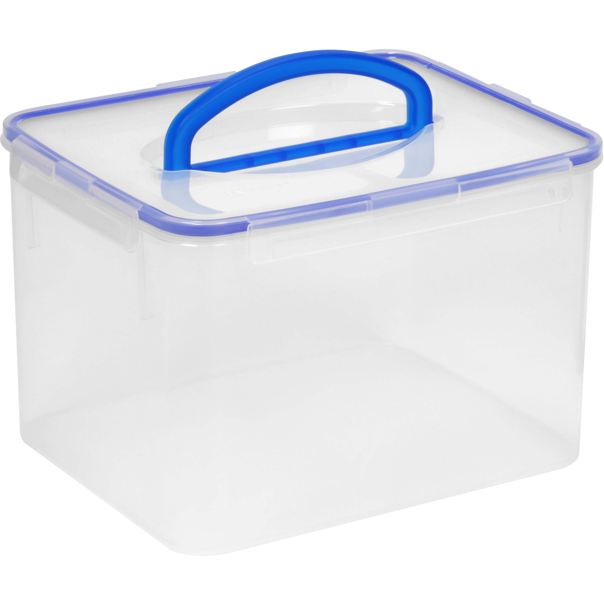snapware airtight plastic 29cup food storage container w large handle