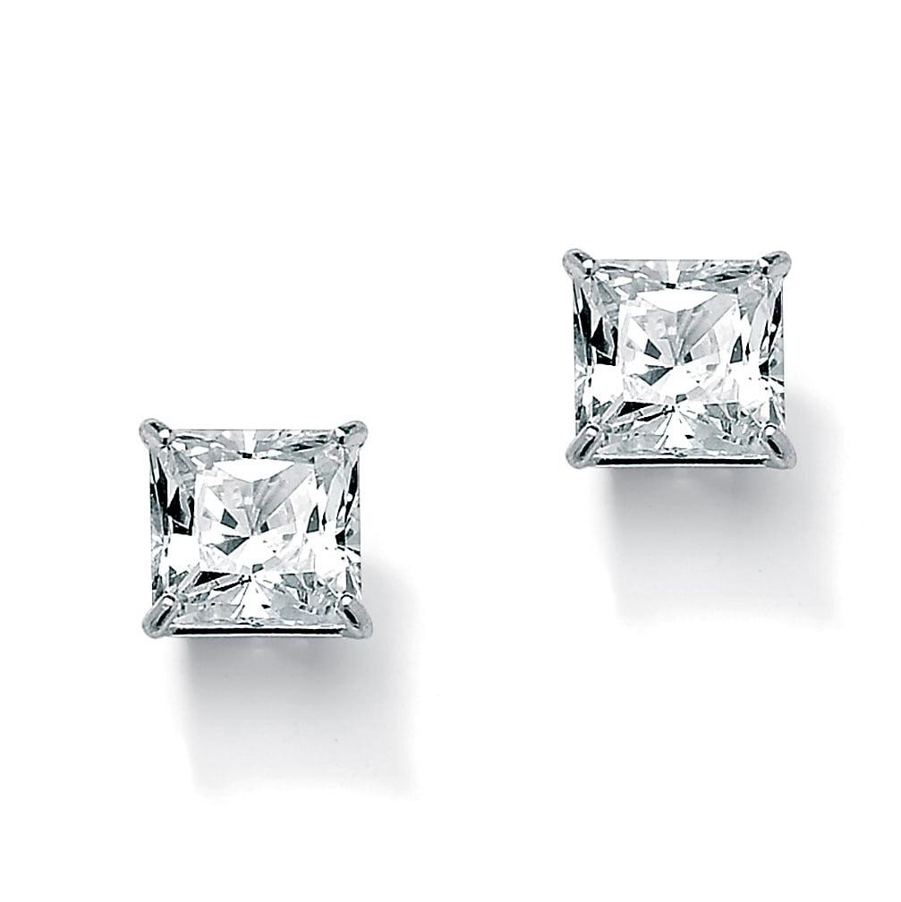 Palm Beach Jewelry 3 24 Tcw Princess Cut Cubic Zirconia 10k White