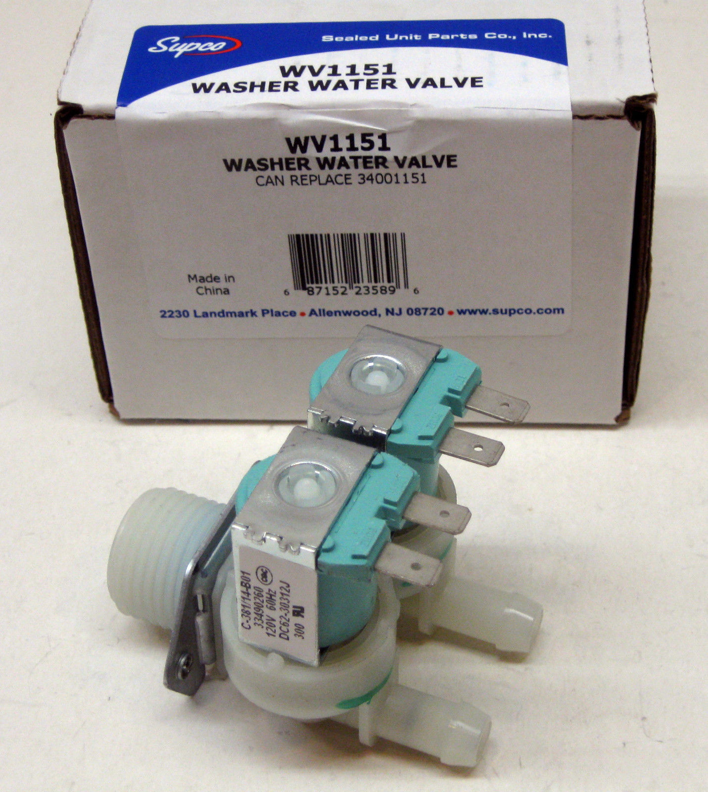 WV1151 for Maytag 34001151 Washer Cold Water Solenoid Valve PS2037108 PS2037108