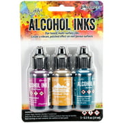 Tim Holtz Alcohol Ink .5oz 3/Pkg-Nature Walk-Wild Plum/Buttrscotch/Stream