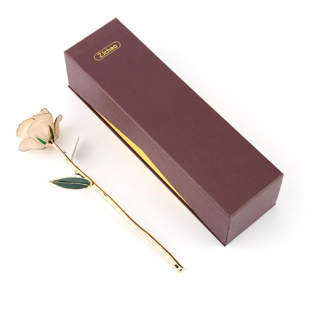 Greensen Love Forever Long Stem Dipped 24k Gold Rose Foil Trim Wonderful Gifts for Mother's Day, Thanksgiving, Christmas, Valentine's Day, Birthdays, Graduations,Anniversaries,Gold Dipped Rose Flowers - image 1 of 6