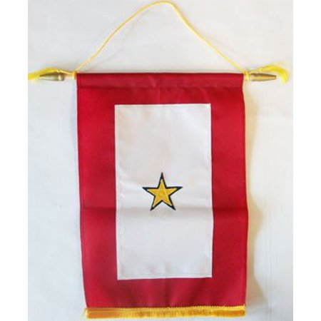 "Image of ""Service Banner (Gold Star) - 8""""x12"""" Nylon Banner"""