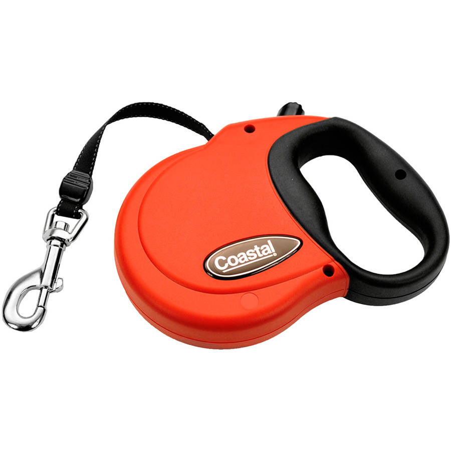 Power Walker 16' Retractable Dog Leash Small-Red