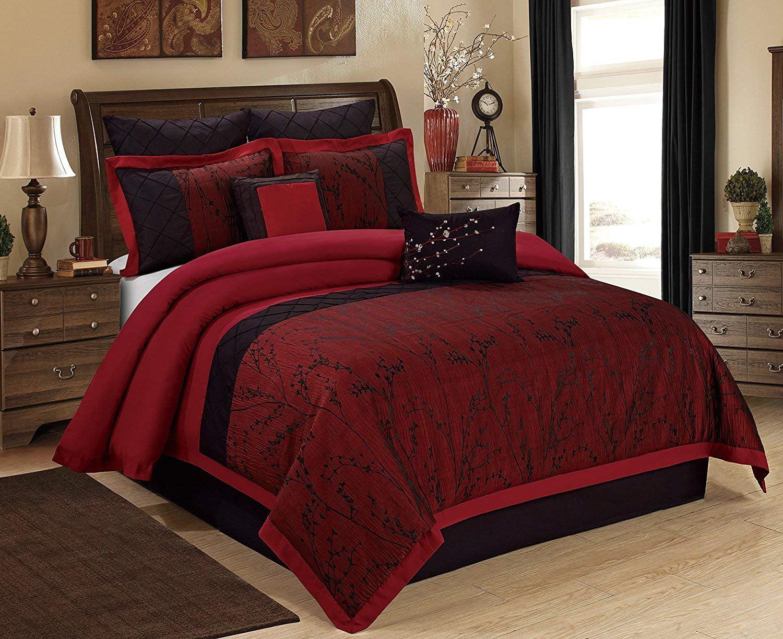 Unique Home Wisteria Comforter 7 Piece Bed In A Bag