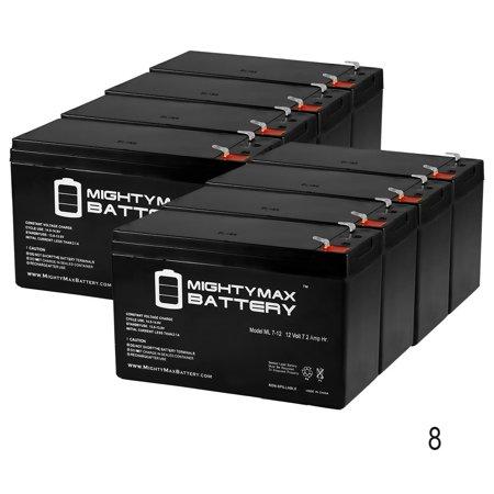 12V 7.2AH SLA Battery for HAI 21A001 Omni LT Control System - 8 Pack