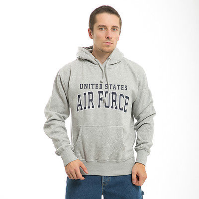United States US Air Force USAF Military Gray Pullover Sweatshirt Hoodie Hoody-S