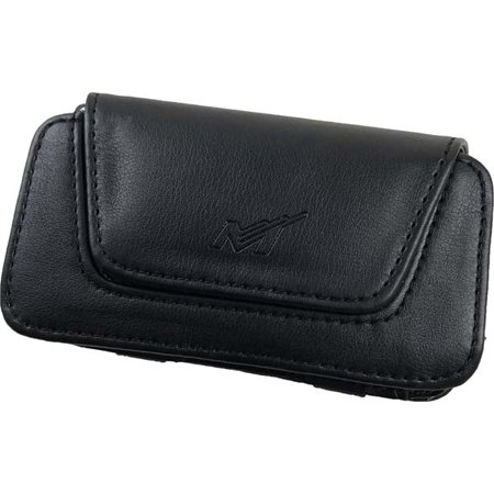 Leather Treo Smartphone - NEW BLACK LEATHER POUCH CASE WITH BELT CLIP FOR MOGUL PPC-6800 HTC 8525 TREO 700