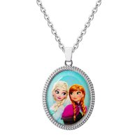 "Disney Frozen Elsa and Anna Necklace, 16"" + 2"" Chain"