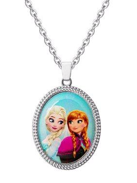 "Disney Frozen Elsa and Anna Necklace, 16"" + 2"" Chain"