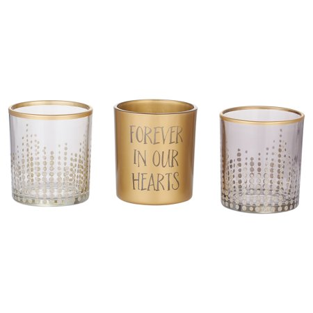 Pavilion Gift Company- Polka dot Assorted Tealight Holders- Set of 3 Dot Polka Dot Candle Holder