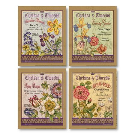 Vintage, Floral London Eau de Cologne, Bath Oil, Lotion and Creme Signs