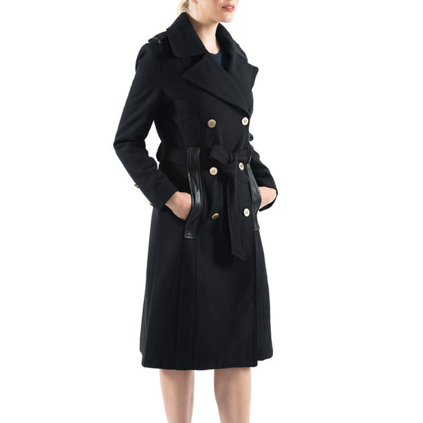 trench coat : F.O.G. Women's Trench Coat with Belted Detail