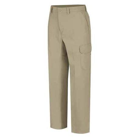 WRANGLER WP80KH4234 Work Pants, Khaki, Cotton/Polyester