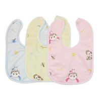 Fancyleo Cotton Bib U-Shaped Baby Saliva Towel Waterproof Anti-spitting Milk Children Cartoon Bib 3PCS/Set