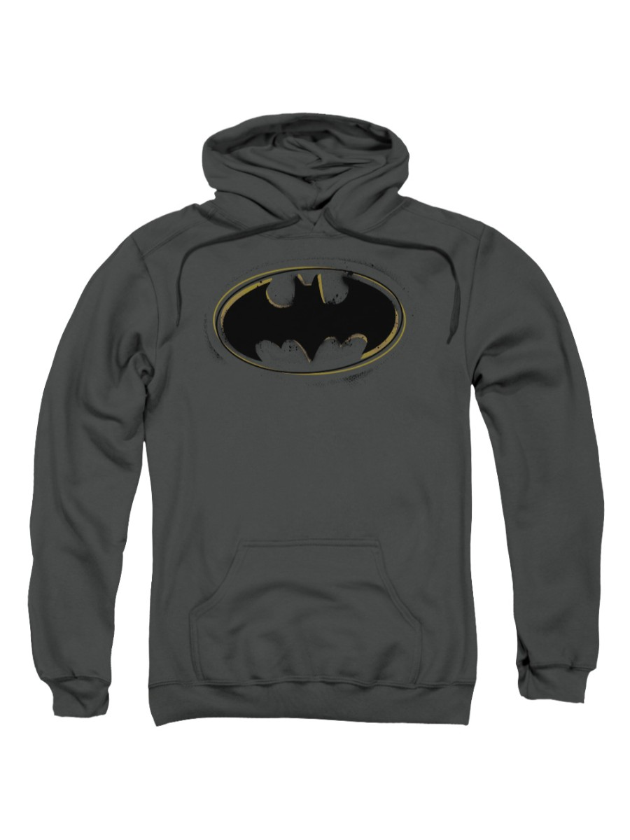 Batman DC Comics Spray Paint Logo Adult Pull-Over Hoodie