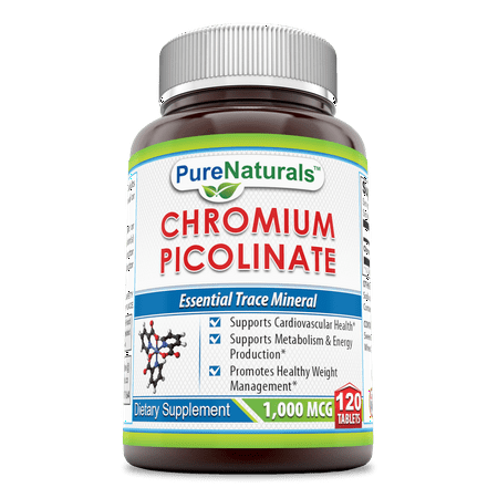 Pure Naturals Chromium Picolinate 1000 Mcg 120 Tablets 1000 Mcg Time Release Tablets