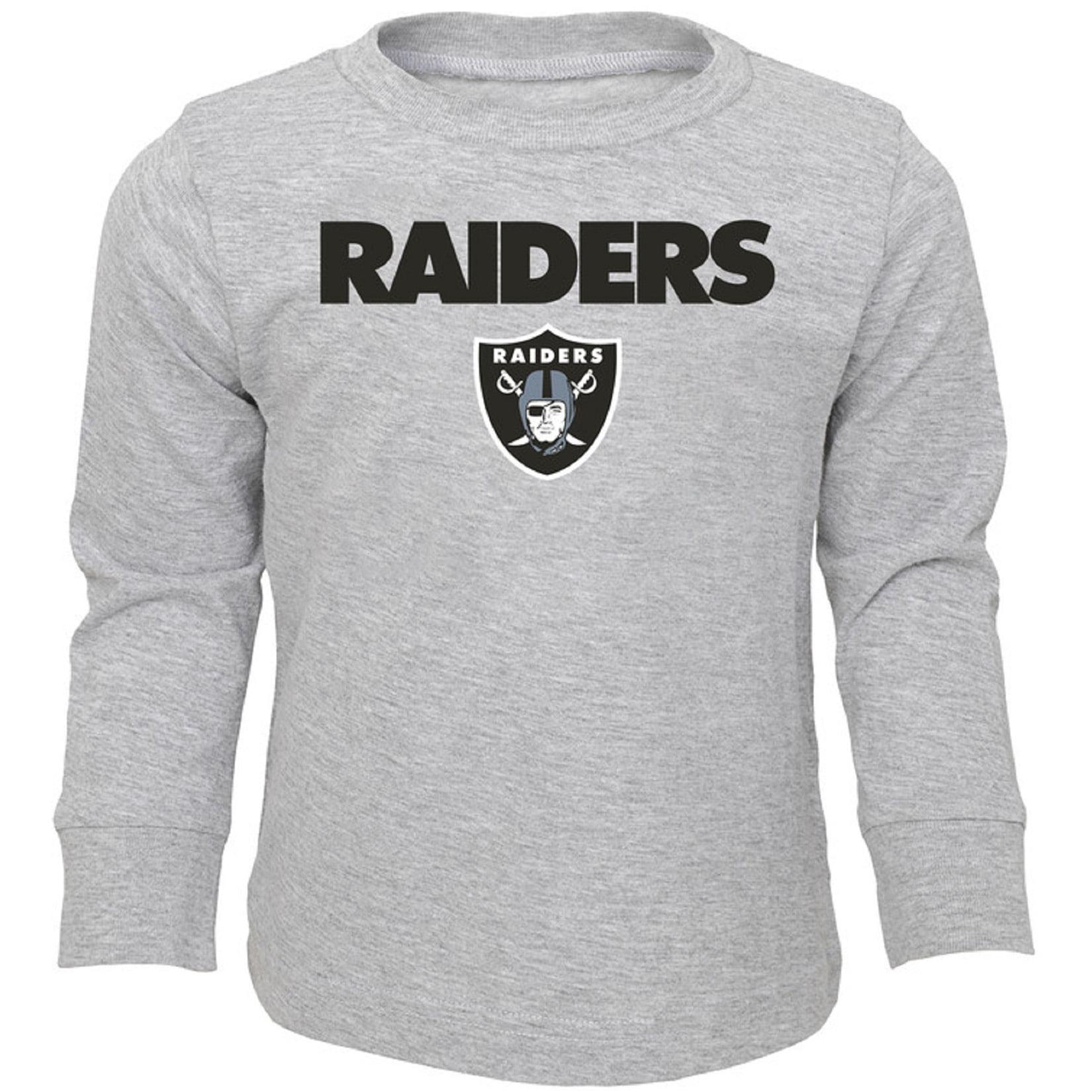 Toddler Heathered Gray Oakland Raiders Team Long Sleeve T-Shirt