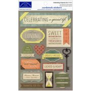Cardstock Stickers-Celebrating A Special Life