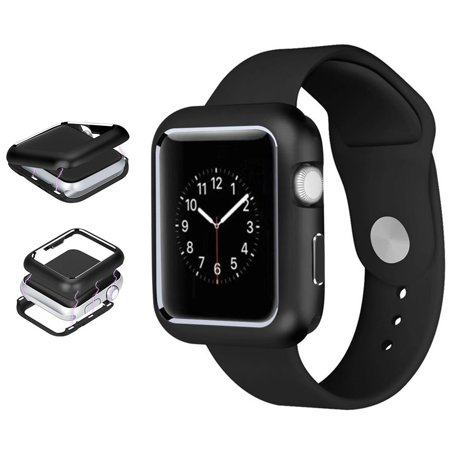 Apple Watch Series 4 Case 44mm, Nakedcellphone [Black] MAGNETIC Snap-On Aluminum Cover with Polished Chrome Bezel for Apple iWatch (Series  4, Size