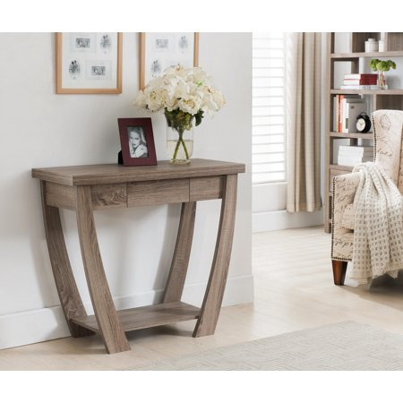 Tessa curved design entryway table for Furniture for curved wall in foyer
