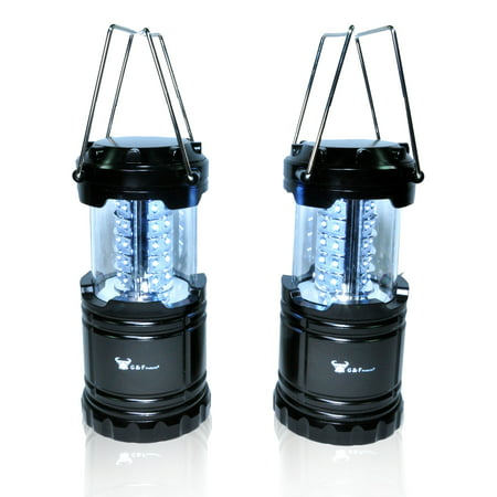 2 Pack of Water Resistant Portable Ultra Bright LED Lantern Flashlight for Hiking, Camping, Blackouts, (Best Camping Candle Lantern)
