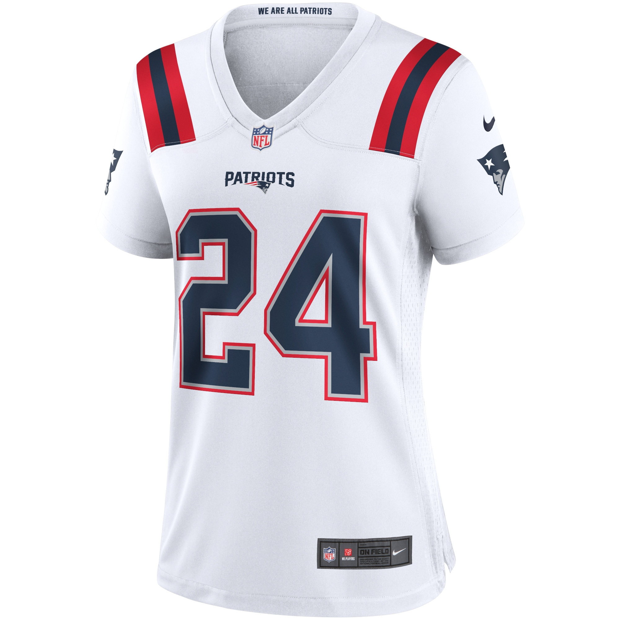 Stephon Gilmore New England Patriots Nike Women's Game Jersey - White