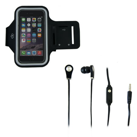 Image of AOB 2-Pack Sport Armband and Earbuds, Black