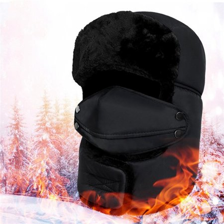 Unisex Winter Bomber Hat Windproof Outdoor Skiing Cycling Warm Mask Earflap Hat for Man & Woman (Bomber Earflaps)