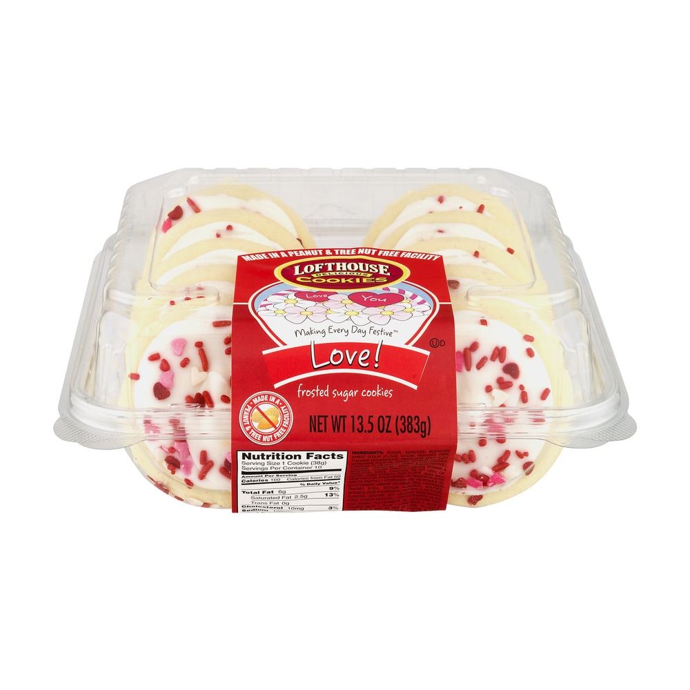 Lofthouse Cookies Love! Frosted Sugar Cookies, 13.5 OZ