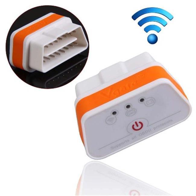 IKKEGOL 10308WOR Vgate iCar 2 Mini OBD2 OBD II WiFi Car Diagnostic Scan Tool, White & Orange